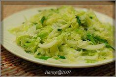 蒜苗炒高麗菜