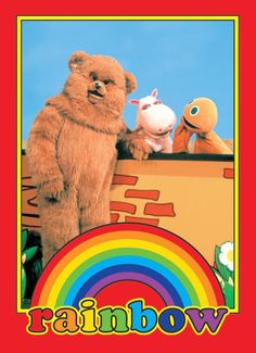 TV posters - Rainbow posters: Rainbow poster featuring the characters from the cult childrens TV show Rainbow. Well, Bungle, George and Zippy. This Rainbow poster has been out of print for some time now. Retro Kids, 80s Kids, 1980s Childhood, Childhood Memories, Kids Tv Shows, Old Toys, The Good Old Days, Happy Friday, Rainbow