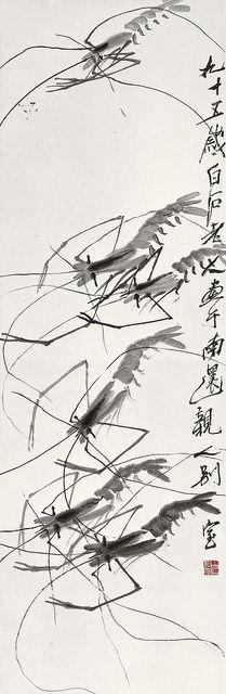齐白石 咏虾图 Qi Baishi (齊白石, 1864-1957) Shrimps