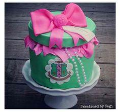 Alpha Kappa Alpha cake