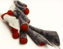 industrial mutations- felted wool jewelry