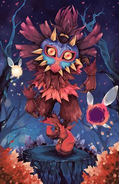 Legend of Zelda: Skull Kid - Created by Allison Hartman
