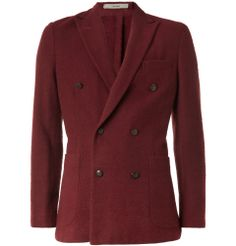 A patch pocket DB blazer. Burgandy. Not for amateurs.