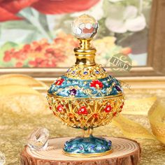 5ml Elegant Antique Design Collectable Empty Metal Crystal Glass Perfume Bottle | eBay