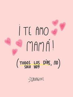 Happy # Tag # Mama, # die # ich will # viel # ? Spanish Mothers Day Poems, Mothers Day Quotes, Mothers Day Cards, Mama Quotes, Love Quotes, Qoutes, Love You Mom, Mom And Dad, Dear Mom