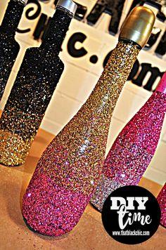 DIY glitter bottle
