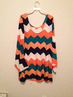 NWOT CUTE Tunic Style Dress Multi Colored Summer Dress Knee Length #Handmade #Tunic #Clubwear