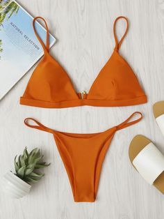 Online shopping for Beach Triangle Bikini Set from a great selection of women's fashion clothing & more at MakeMeChic.COM.