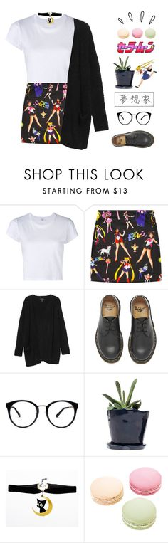 """""""Sailor Moon 🌙"""" by lexi-moo ❤ liked on Polyvore featuring RE/DONE, Monki, Dr. Martens, Dot & Bo, Ladurée and Old Navy"""