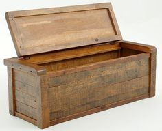 Handcrafted from old reclaimed barnwood for a unique rustic trunk, blanket chest or storage cabinet for camp, western, and cabin decors. Custom made sizes.