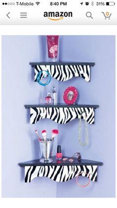 Minus the zebra. Room shelfs