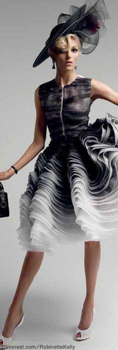 Christian Dior Haute Couture   S/S 2012 black hat