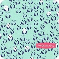 Paper Bandana Turquoise Panda Bee by Alexia Abegg for Cotton and Steel Fabrics