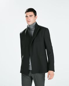 FUNNEL COLLAR BLAZER