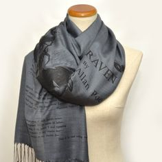 The Raven by Edgar Allan Poe  Shawl Scarf Wrap by UniversalZone