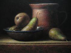 Willie Berkers - Realistic romantic painting Romantic Paintings, Beautiful Paintings, Still Life, Mushroom, Fruit, Vegetables, Food, Art, The Fruit