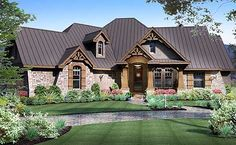 Plan W16851WG: Craftsman, Corner Lot, European, Photo Gallery, Luxury, Cottage, Mountain House Plans & Home Designs