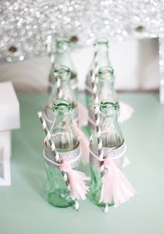 Mint & Pink themed Ice-cream party via momsbestnetwork.com & @Chelsey Mass #diy #party