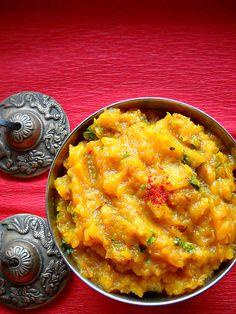 Pumpkin curry - kaddu ki sabzi: kaddu sabzi recipe, navratri recipe