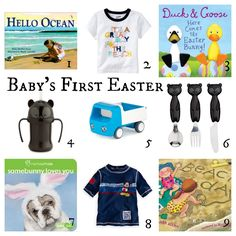 Baby boys first easter basket ideas with links for purchasing babys first easter basket negle Gallery