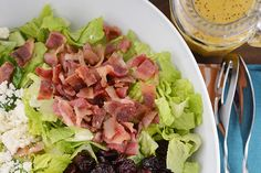 Amazing Romaine Salad with Light Poppy Seed Vinaigrette