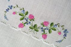 A white vintage square embroid |