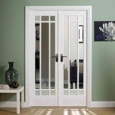 White Interior Door With Glass