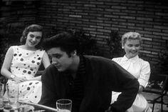 Elvis at Sam Phillips house in april 9  1957.