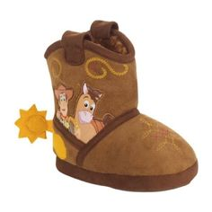 Great Disney Toy Tale Cowboy Woody Boots Younger Boys Plush Slippers Dimensions 5/6-9/ten