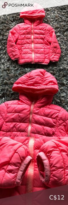 George Hooded Lightweight Jacket Girls XS 4-5 George Hooded Lightweight Jacket  Girls Size XS Size 4-5  In good condition some signs of wear to hem at wrists  Cute coral pink colour George Jackets & Coats