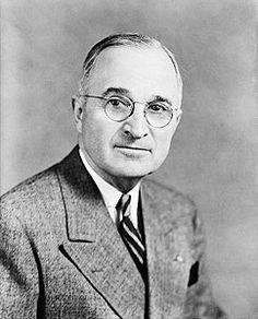 Official presidential photo of Harry S. Truman, the 33rd President of the United States. Truman served as president from 1945 to 1953.