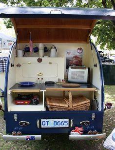 A lovely little Tassie Camper. Tiny Camper, Camper Caravan, Cool Campers, Rv Campers, Camper Trailers, Camper Van, Zelt Camping, Vw Camping, Camping Ideas