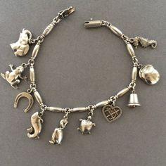 "Gallery 925 - Georg Jensen ""Charm"" Bracelet No. 43, Handmade Sterling Silver"