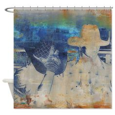 Shower With A Cowboy! American Cowboy Art Rodeo Riders Shower Curtain