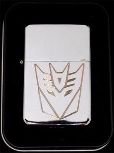 TRANSFORMER DECEPTICON Movie Engraved Chrome Cigarette Lighter dvd Gift LEN-0012