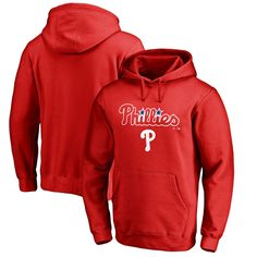 cc0e5783096 Philadelphia Phillies Fanatics Branded Team Lockup Pullover Hoodie – Red
