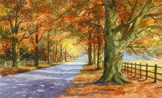 'Avenue of Trees' taken from Painting Watercolour Trees the Easy Way by Terry Harrison.