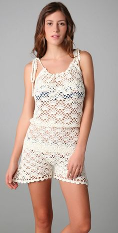 Pretta Crochet: saída de praia de crochet