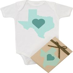 Morado Designs organic Texas Love onesie