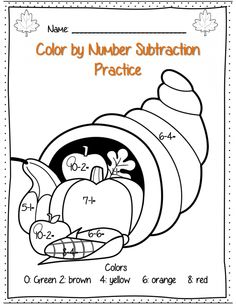 math worksheet : free  thanksgiving math  color the turkey  addition  : Thanksgiving Addition And Subtraction Worksheets