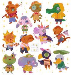 Children's Book Illustration, Character Illustration, Animal Illustrations, Animal Drawings, Cute Drawings, Creature Design, Character Design Inspiration, Animal Design, Cute Art