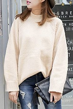 Collared Loose-Fitting Sweater