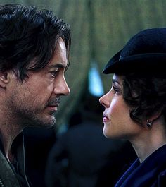 "Holmes and Irene (Robert Downey Jr. and Rachel McAdams) - ""Sherlock Holmes: A Game of Shadows"""