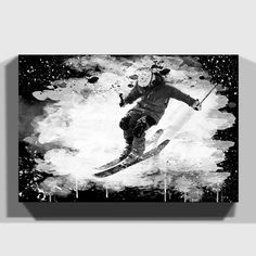 Snow Skiing #1 Powder Ski Skier Skis Graphic Decal Sticker Car Vinyl