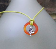 Flower and Recycled Bottle Ring Pendant by GreyGyrl on Etsy, $20.00