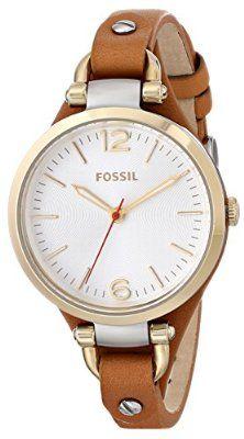 Fossil Women's ES3565 Georgia Analog Display Analog Quartz Brown Watch