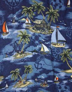 Disney Mens XL Short Sleeve Button-Front Blue Tropical Mickey Hawaiian Shirt #Disney #Hawaiian