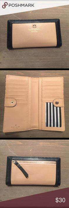 Kate Spade Wallet Kate Spade wallet. Used but in great condition. Tan and black. kate spade Bags Wallets