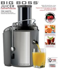 Big Boss Juicer - Save 57% only $59.95 - #fitness #healthy  #MobStubDailyDeals