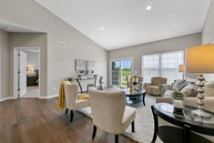 This new construction ranch-style home in Columbia, IL is perfect for young couples or empty-nesters. Home Staging Companies, Young Couples, Ranch Style, New Construction, Empty, Columbia, Table, Room, Furniture